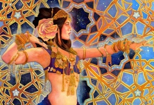 The Goddess Inanna by The Goddess Inanna, related to Ishtar, by pearlwhitecrow.deviantart.com